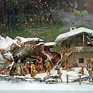 Christmas scene on a rainy day by Arie Koene