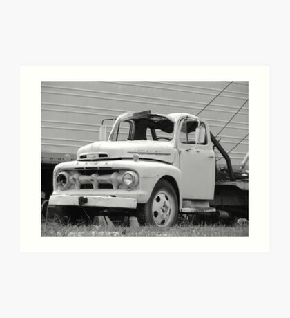 Old Tow Truck Art Print