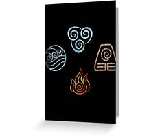 The four Elements Avatar symbols Greeting Card