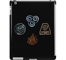 The four Elements Avatar symbols iPad Case/Skin