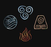 The four Elements Avatar symbols T-Shirt
