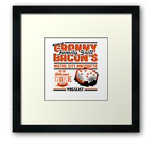 Granny Bacons Framed Print