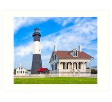 Morning at Tybee Lighthouse Art Print