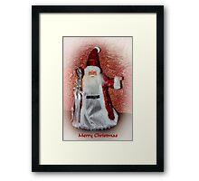 Saint Nick Merry Christmas Framed Print