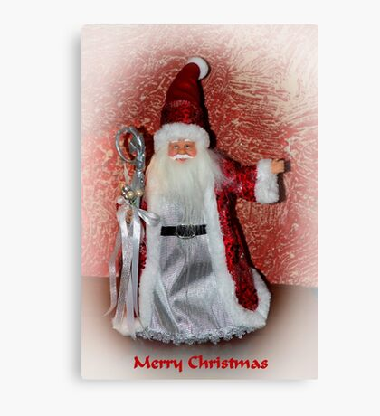 Saint Nick Merry Christmas Canvas Print
