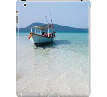 Lone Boat in Koh Rong Samloem, Cambodia iPad Case/Skin