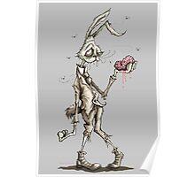 Bugs Zombunny (Sepia) Poster