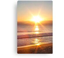 sunset star Canvas Print