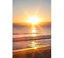 sunset star Photographic Print