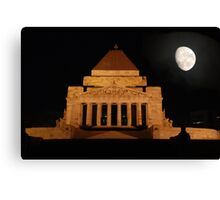 Shrine of rememberance Melbourne Canvas Print