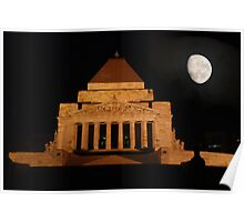 Shrine of rememberance Melbourne Poster
