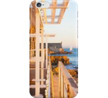 yacht by the fortress iPhone Case/Skin