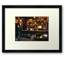 English Pub at Christmas-time, UK. 1980s Framed Print