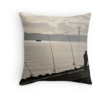 A Sunsetting Silhouette Throw Pillow
