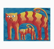 Curved Cats Kids Clothes