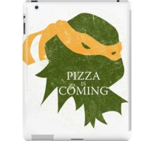 Pizza is Coming (Turtle Green Version) iPad Case/Skin