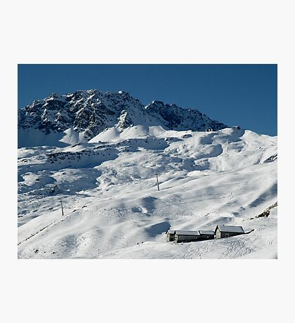 Swiss Winter Snow Scene Photographic Print