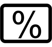 % Percentage Button Photographic Print