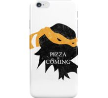 Pizza is Coming - Sticker/Cases/Pillow/Print on White iPhone Case/Skin