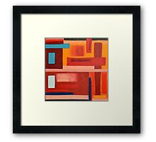 Primitive Abstract Shapes, Multi- Coloured  Framed Print