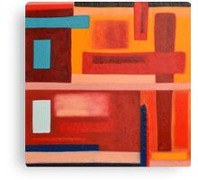 Primitive Abstract Shapes, Multi- Coloured  Canvas Print