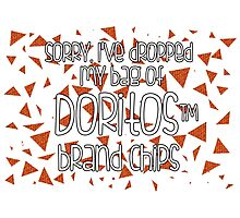 Oops, my Doritos! Photographic Print