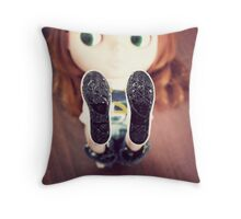 Olive's Got Two Left Feet Throw Pillow
