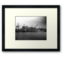 Hong Kong, Port Framed Print