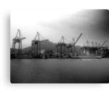 Hong Kong, Port Canvas Print