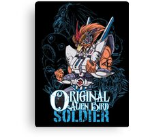 Original Alien Bird SOLDIER Canvas Print