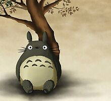 Beautiful Totoro - Digital Art by Leandre-Gautier