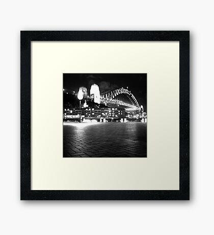 Sydney Harbour Bridge by Night Framed Print