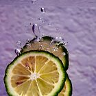 Splash of lemon by microshutter