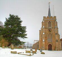 Kimpton Church in the Snow by Roantrum