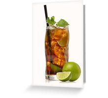 Cuba Libre Cocktail Greeting Card