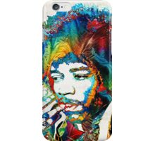 Jimi Hendrix Tribute by Sharon Cummings iPhone Case/Skin
