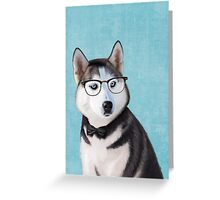Mr Siberian Husky Greeting Card