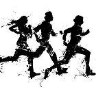 Runners in ink by Richard Eijkenbroek