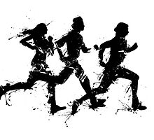 Runners in ink by Richard Eijkenbroek