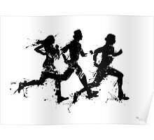 Runners in ink Poster