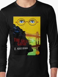 Retro The Great Gatsby Travel Poster Long Sleeve T-Shirt