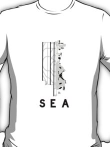 Seattle–Tacoma Airport Diagram T-Shirt