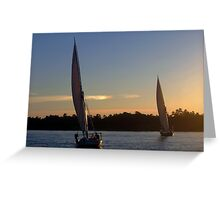 Nile Sunrise Greeting Card