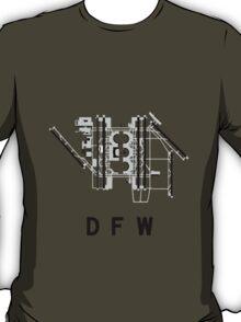 Dallas/Fort Worth Airport Diagram T-Shirt
