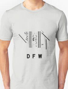 Dallas/Fort Worth Airport Diagram Unisex T-Shirt