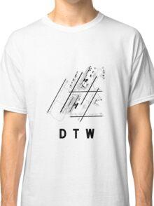 Detroit Airport Diagram Classic T-Shirt