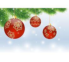 Christmas Red Balls Photographic Print