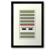 Select - Start NES Pad controller buttons. Framed Print