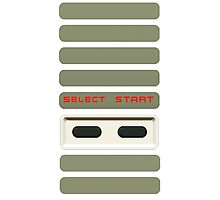Select - Start NES Pad controller buttons. Photographic Print