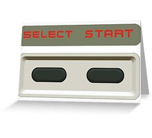 Select Start buttons NES controller pad. Greeting Card
